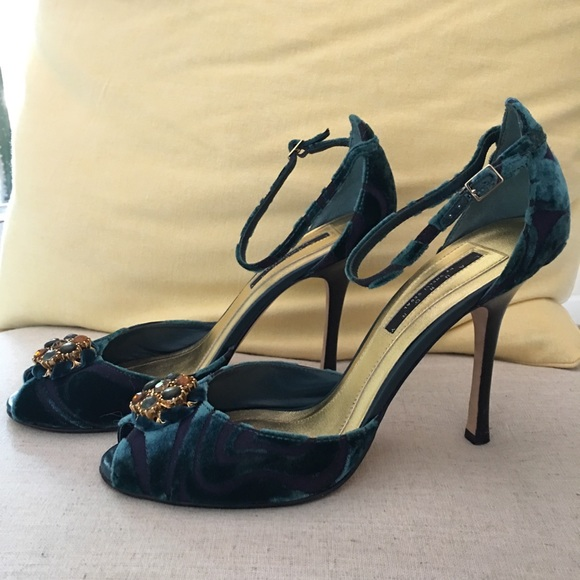 3a9ecd9d34d Velvet Teal High Heel Party Shoes by Laundry